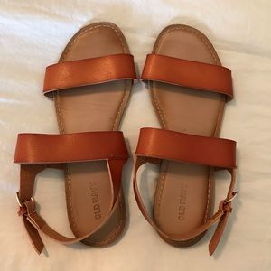 Old Navy faux Leather Sandals size 6.5